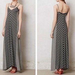 Anthropologie Puella black & white striped dress